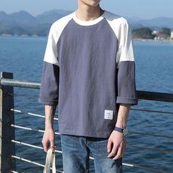 子俊 - 拼色七分袖T恤