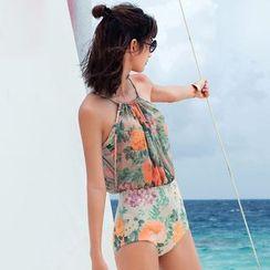 Zeta Swimwear - Floral Print Swimsuit