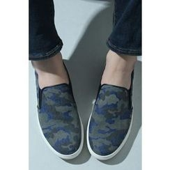 Ohkkage - Camouflage Slip-On Shoes