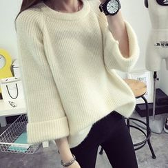 FR - 3/4 Roll Sleeve Chunky Sweater