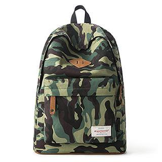 Mr.ace Homme - Canvas Camouflage Backpack