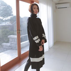 WITH IPUN - Turtleneck Knit Dress