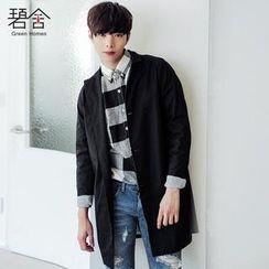 Mr Fashion - Striped Cuff Trench Coat