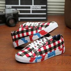 Hipsteria - Patterned Canvas Sneakers