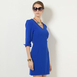 YesStyle Z - V-Neck Cutout Shift Dress