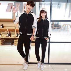 Sienne - Couple Matching Set: Zip Jacket + Sweatpants