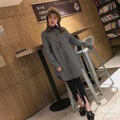 QZ Lady - Long-Sleeve Striped Shirt Dress