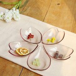 Timbera - Glass Flower Petal Sauce Dish