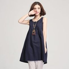 Jiuni - Frilled Sleeveless Dress