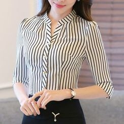 Caroe - 3/4-Sleeve Striped Shirt