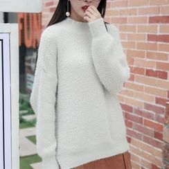 Emeline - Mock Neck Oversized Sweater