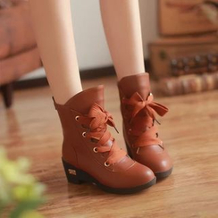 Pastel Pairs - Short Lace-Up Boots