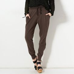YesStyle Z - Crochet Trim Drawstring Pants