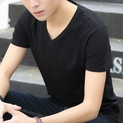 Coolba - 短袖V领T恤