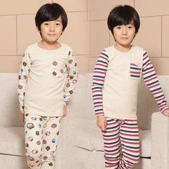 Lullaby - Kids Set: Printed Panel Pajama + Pants