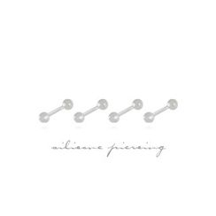 Miss21 Korea - Set of 4: Transparent Piercing (2types)