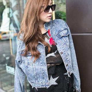 Clair Fashion - Studded Denim Jacket