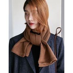 FROMBEGINNING - Ribbed Knit Scarf