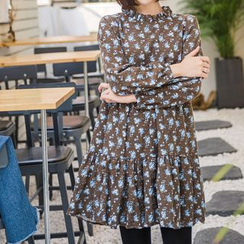 WITH IPUN - Floral Print Tiered Dress