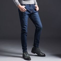 Denimic - Fleece Lined Slim Fit Jeans