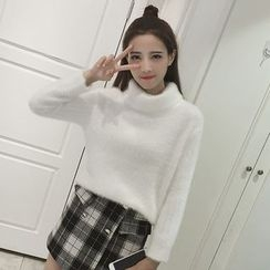 lilygirl - Plain Turtleneck Sweater