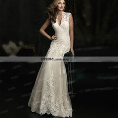 Angel Bridal - Lace Sheath Wedding Dress
