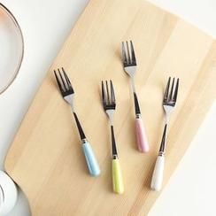 聚可爱 - 陶瓷不銹钢叉