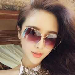 Sunny Eyewear - Mirrored Aviator Sunglasses