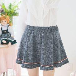 Moricode - Woolen A-line Skirt