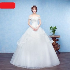 Caramelo - Off-shoulder Ball Gown Wedding Dress