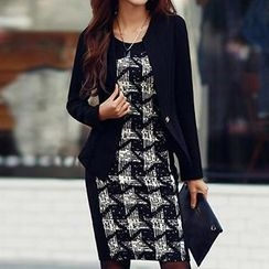 Rocho - Long Sleeve Patterned Dress