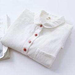 布丁坊 - 灯芯绒长袖衬衫