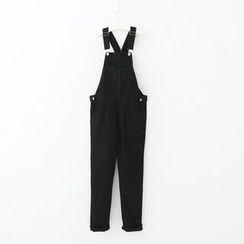 Meimei - 牛仔背帶褲