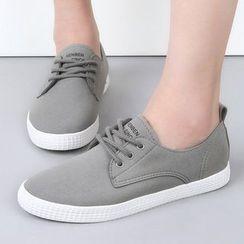 Renben - Velvet Lace Up Sneakers