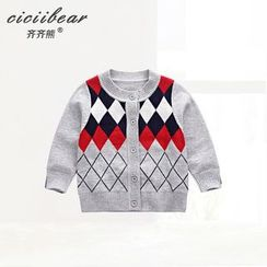 ciciibear - Baby Diamond Pattern Cardigan