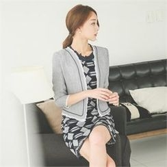 ode' - 3/4-Sleeve Open-Front Jacket