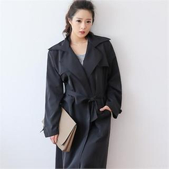 GLAM12 - Open-Front Trench Coat