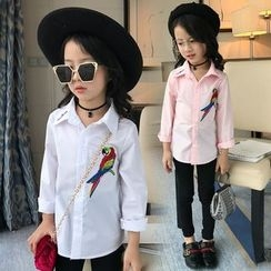 Pegasus - Kids Bird Embroidered Shirt