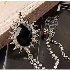 Trend Cool - Jeweled Sun Brooch