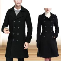Bay Go Mall - Couple Matching Double Breasted Long Coat