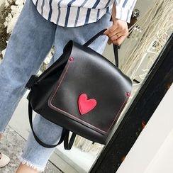 Youshine - Heart Applique Backpack