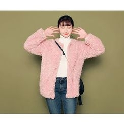 HOTPING - Zip-Up Fleece Jacket
