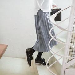 mimi&didi - Pleated Satin Long Skirt
