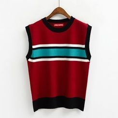Porta - Color Block Knit Vest