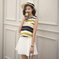 Romantica - Set: Sleeveless Striped Top + Skirt