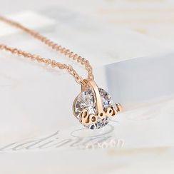 LoveGem - 水钻吊坠项链