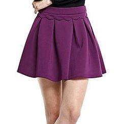 O.SA - Pleated A-Line Skirt