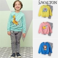 WALTON kids - Kids Set: Animal Printed Sweatshirt + Sweatpants