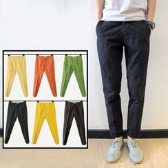 Chuoku - Plain Slim-Fit Pants