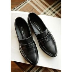 GOROKE - Almond-Toe Penny Loafers